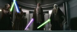 Windu Kolar Tiin Fisto arrests Palpatine