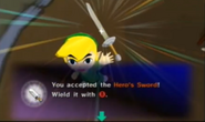 Receiving Hero's Sword