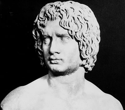 roman sculpture portraits young man