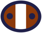 Concept overwatch soldier logo brown blue ellipse