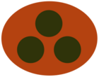 Concept overwatch soldier logo orange ellipse