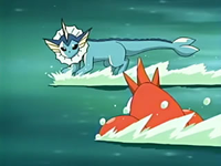 EP429 Vaporeon vs Corphish