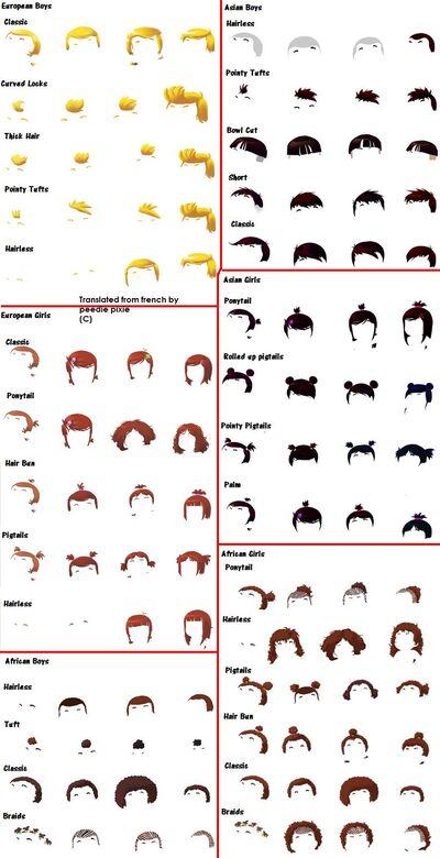 Hair Styles Edit Hair Styles section