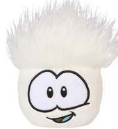 Whitepuffle plush