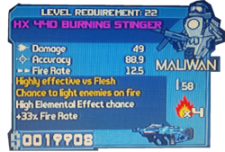 HX 440 Burning stinger