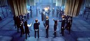 Dumbledore&#39;s Army in circle