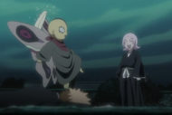Yachiru scares Ashisogi Jizo