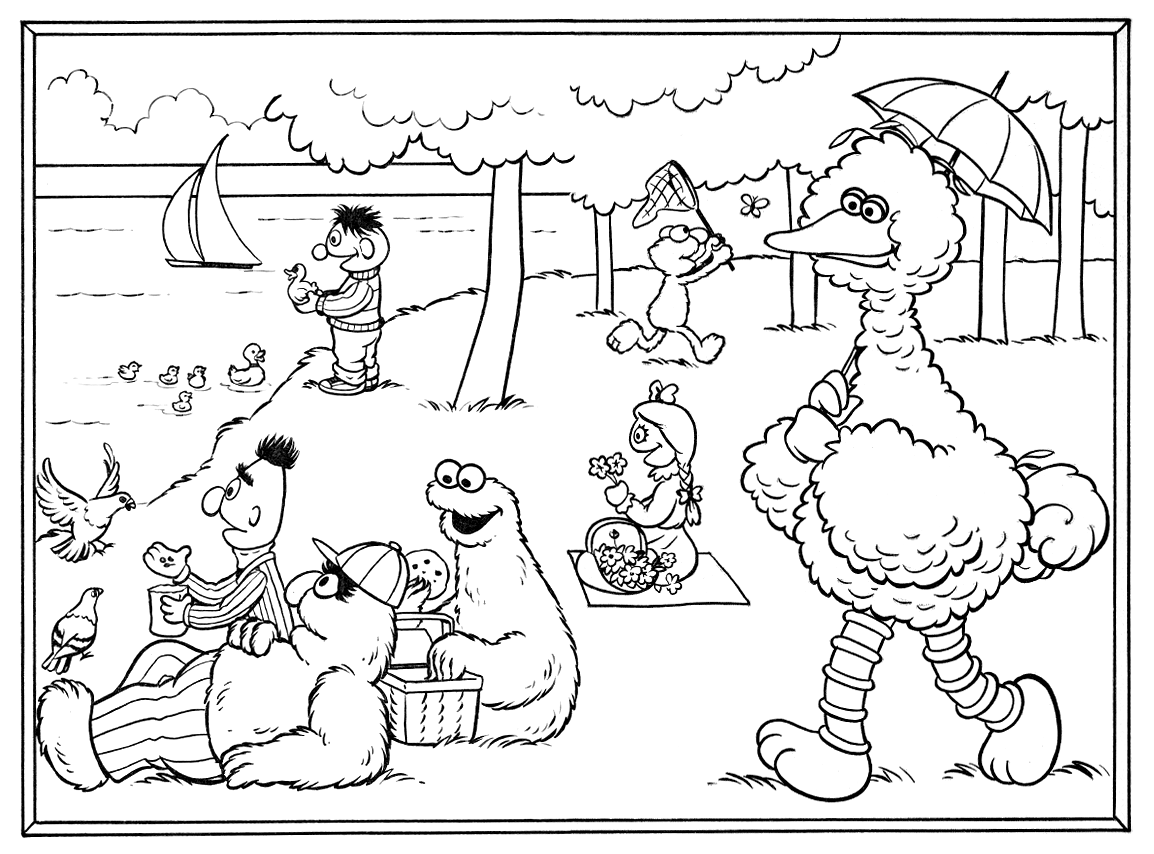 Georges seurat muppet wiki for Seurat coloring pages