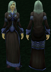 Netherweave Robe, Grass Background, Human Female