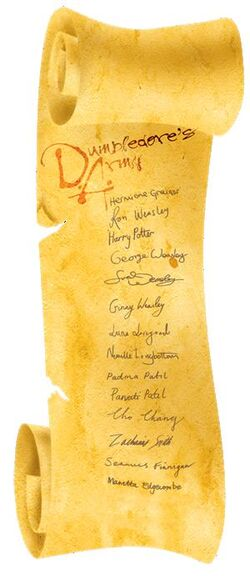 Dumbledore's™ Army Scroll with Member List on Parchment