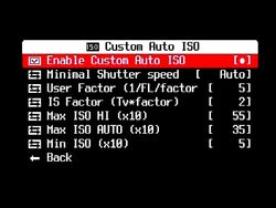 CustomAutoISO Enable