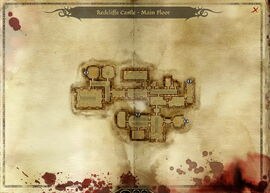 Map-Redcliffe Castle - Main Floor