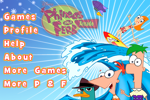 Phineas and Ferb Arcade menu.png - Phineas and Ferb Wiki - Your Guide