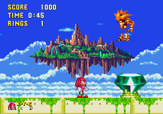 Knuckles VS Mecha Sonic