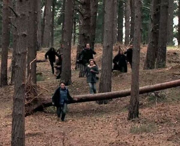 Snatchers chasing Harry Potter and Hermione Granger 03