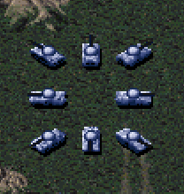RA Light Tanks In-game