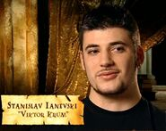 Stanislav Ianevski (Viktor Krum) discussing The Maze in HP4