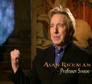 Alan Rickman (Severus Snape) CoS screenshot