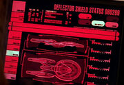 Deflector status display, Sovereign class