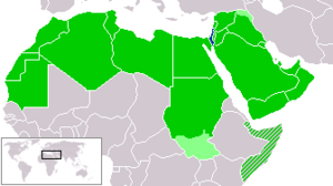 Israel and arab states map