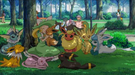 P11 Damisela con Eevee y sus evoluciones