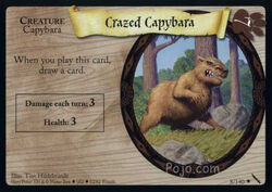 Crazed Capybara (Harry Potter Trading Card)