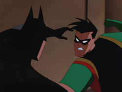 Robin and Batman dispute