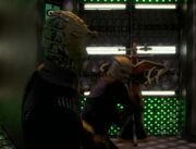 Jem'Hadar youth battles hologram