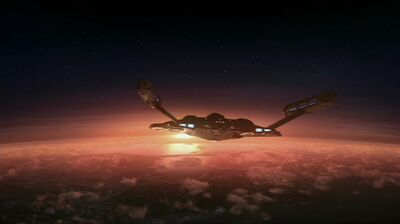 Enterprise (NX-01) above Earth