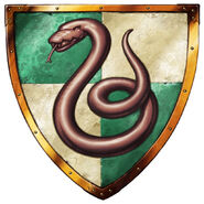 Slytherin Logo from Harry Potter Lego