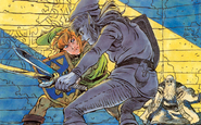 Link vs. Dark Link (The Adventure of Link)