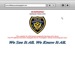LCPD Website Warning