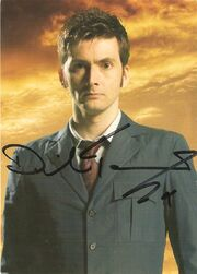 David tennant signed postcard