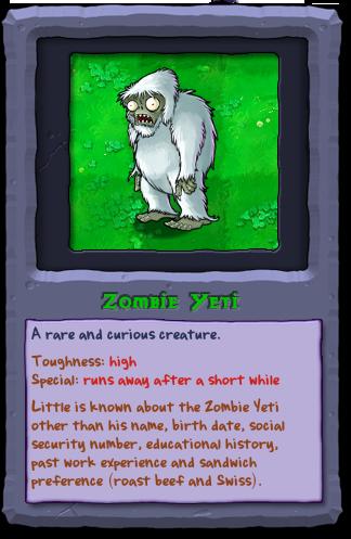 Plants Vs Zombies Yeti