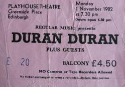 Duranplay82 ticket
