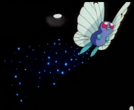 EP007 Butterfree de Ash usando somnfero
