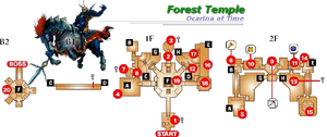 Forest Temple Map (Ocarina of Time)