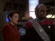 Kira Worf und O&#39;Brien sorgen sich um Dax und Sisko