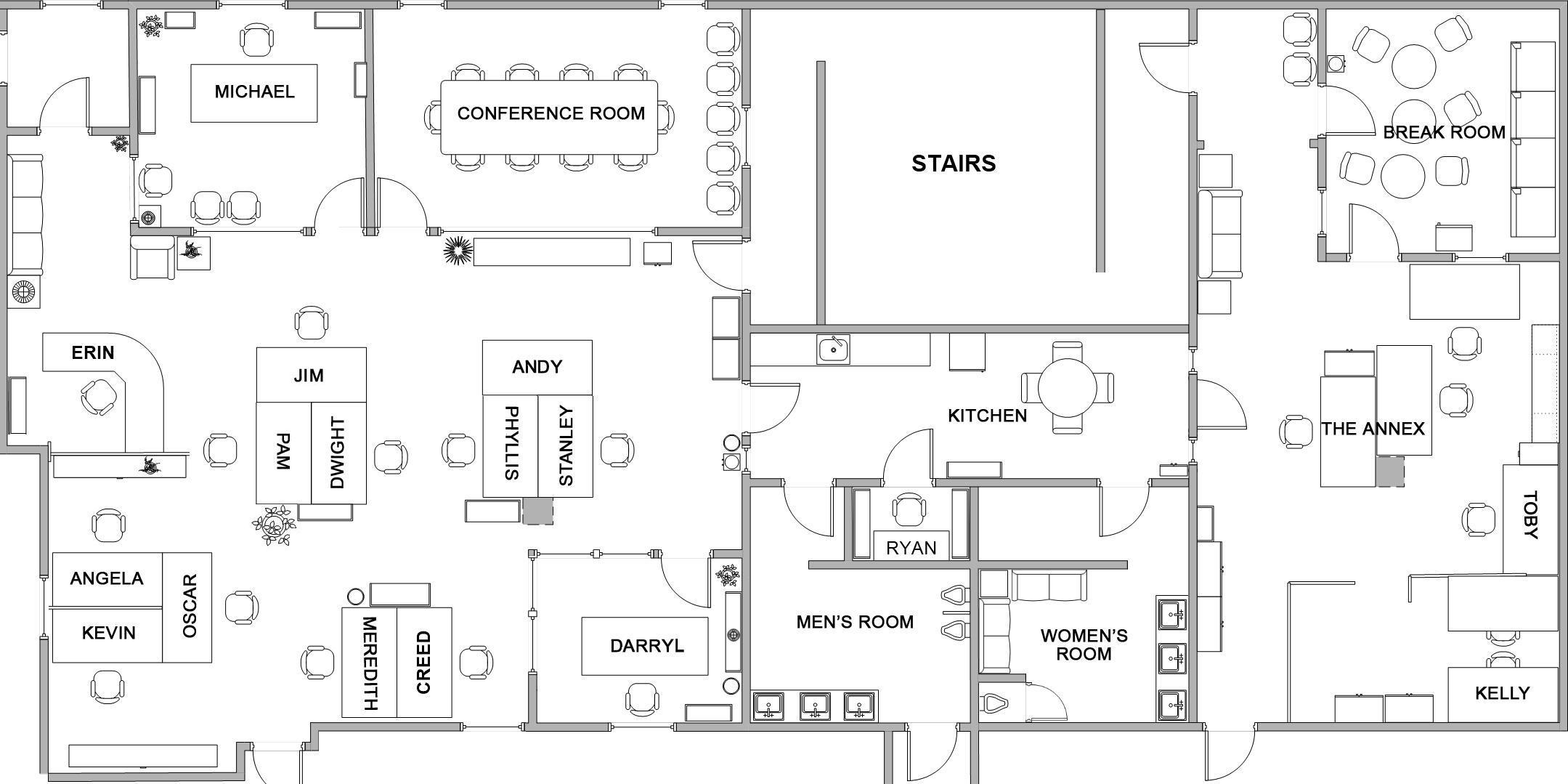 Charming ... Office Blueprint ...
