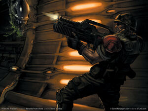 Wallpaper aliens vs predator 2 03 1152