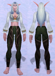 Leggings of the Ruins Dweller, Snow Background, NE Female