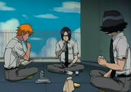 Ichigo, Uryu and Mizuiro having lunch