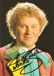 Colin baker signed postcard