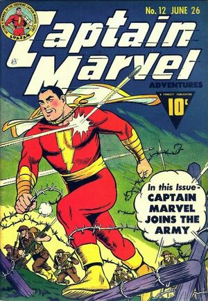 Cover for Captain Marvel Adventures #12