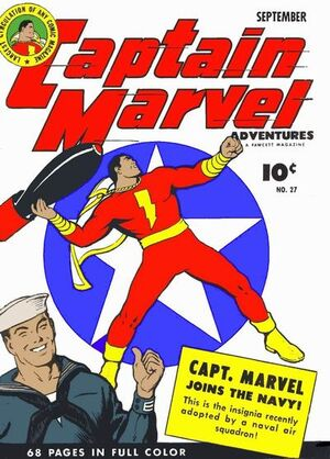 Cover for Captain Marvel Adventures #27