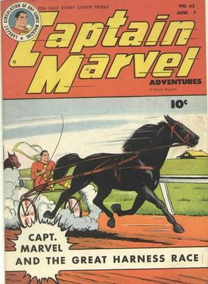 Cover for Captain Marvel Adventures #62