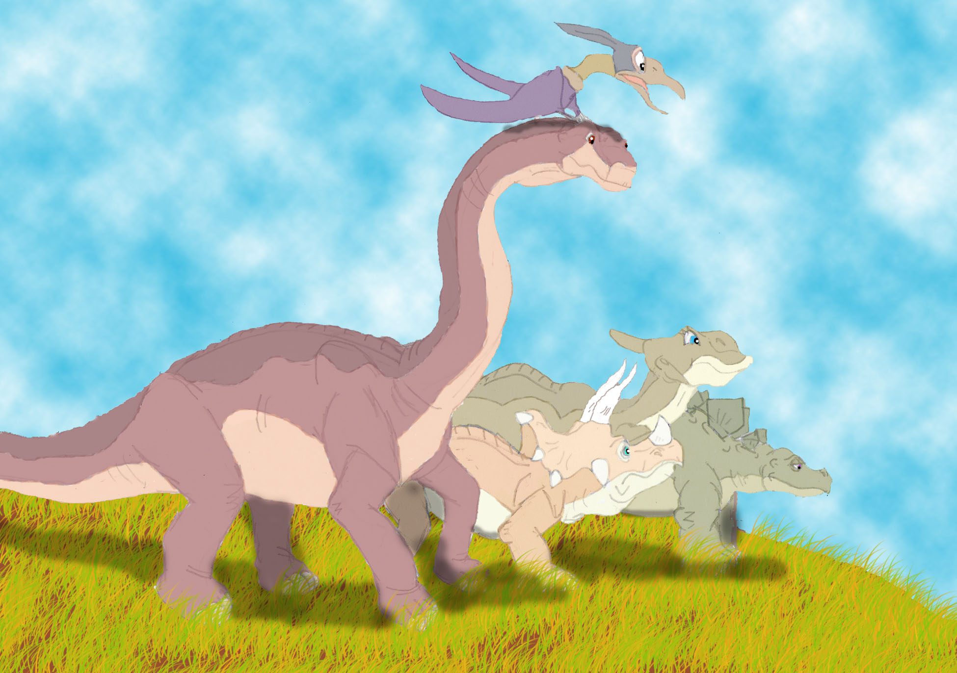 The Land Before Time Coloring Pages - Democraciaejustica