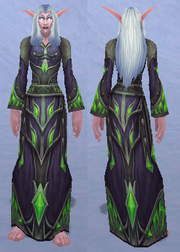 Crimson Acolyte Robe, Snow Background, NE Female