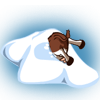 Cow in Snowpile-icon