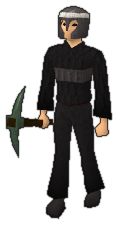 Adamant pickaxe equipped old